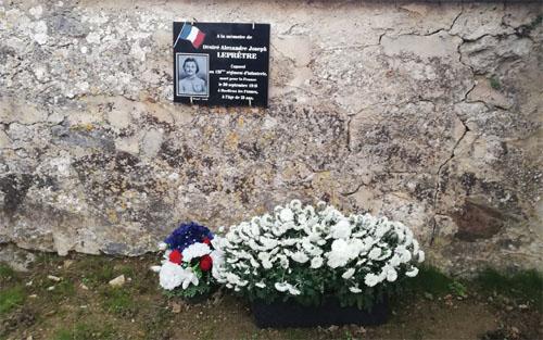 Plaque commémorative soldat Leprêtre